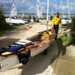 Safely ashore at Hayling Island Sailing Club after a downwind leg in F6+