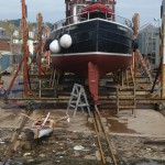 Stacey and the Trawler - at Arbroath